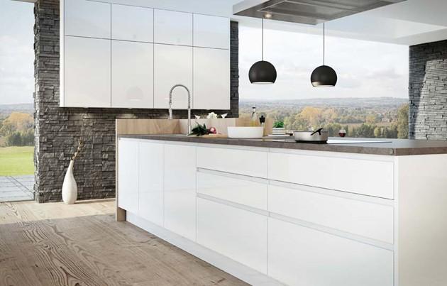 linea weiss k chen steininger. Black Bedroom Furniture Sets. Home Design Ideas