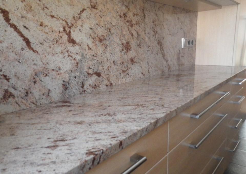 Steinplatte Küche Dekoration Inspiration Innenraum und